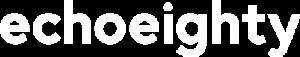 echo eighty text logo white